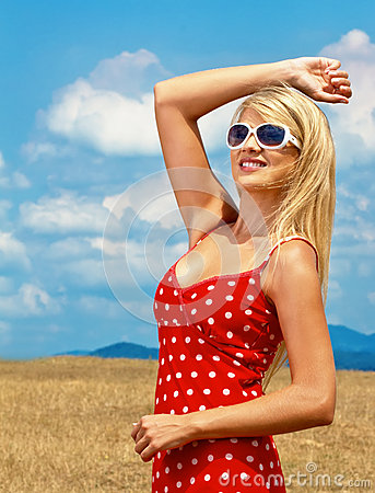 Woman, outdoor shot