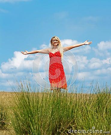 Woman, outdoor shot