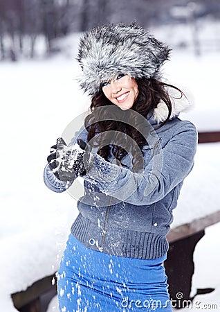 Woman outdoor in winter