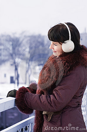 Woman outdoor in winter
