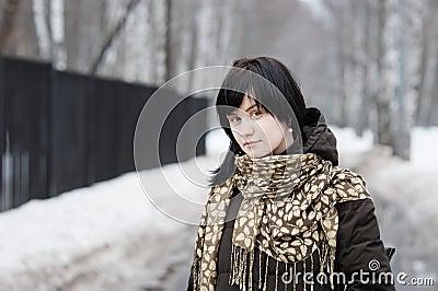 Woman outdoors portrait
