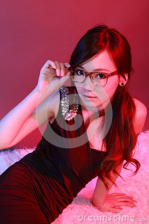 Free Woman Over Glasses Royalty Free Stock Photography - 29600317