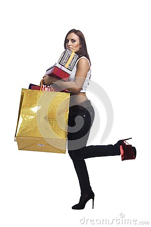 Woman with packages