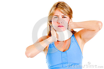 Woman in pain