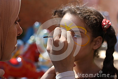 Face Painting Editorial Stock Photo