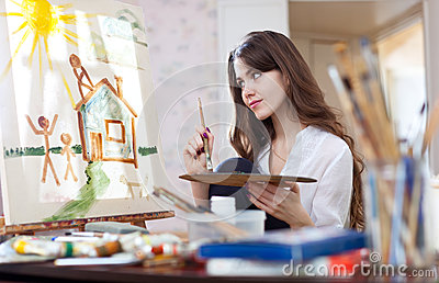 Woman paints home of dreams