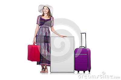 Woman in panama  preparing for travel