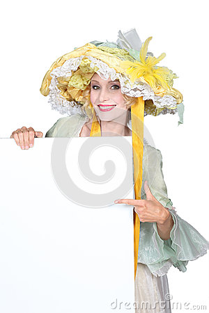 Woman in pantomine outfit