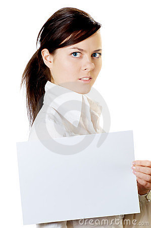 Woman with paper