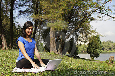 Woman in park