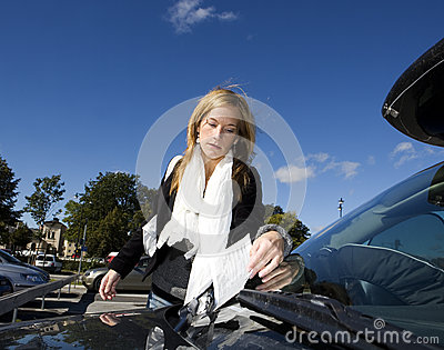 Woman and Parking ticket