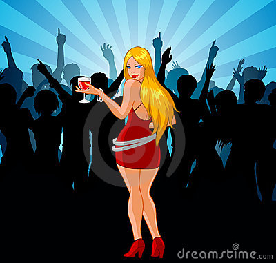 Woman At Party
