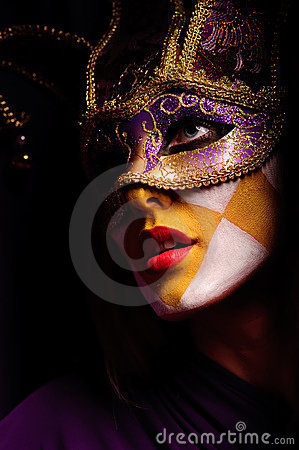 Woman In Party Mask Stock Photos - Image: 15584543