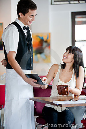 Woman Paying Bill