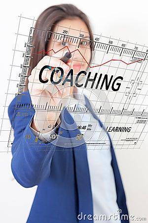Free Woman Pen Touch Coaching Stock Image - 42867641