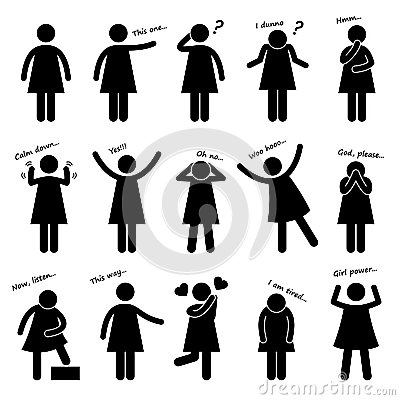 Free Woman People Posture Body Language Pictogram Stock Images - 30112464