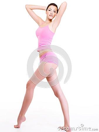 Woman with perfect slim beautiful  body