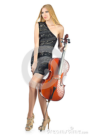 Woman performer with cello