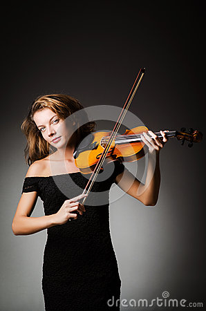 Woman performer with violin