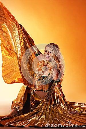 Woman performing arabic dance