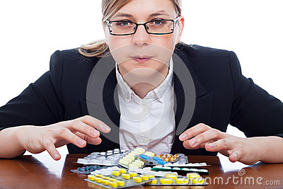 Woman and pharmaceuticals