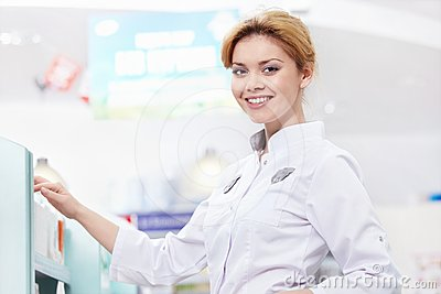 The woman at the pharmacy