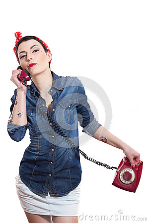 Woman with a phone