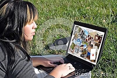 Woman Photo Editing