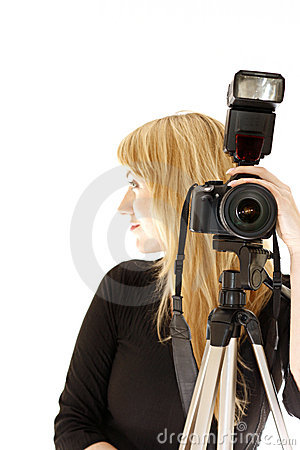 Woman photographer profile
