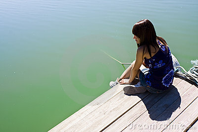 Woman in pier