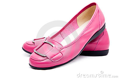 Woman pink shoes