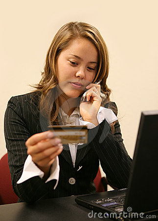 Woman Placing Order