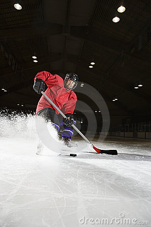 Free Woman Playing Hockey. Stock Images - 2676854