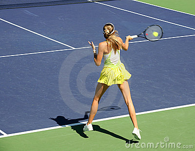 Woman Playing Tennis Stock Image - Image: 2100951