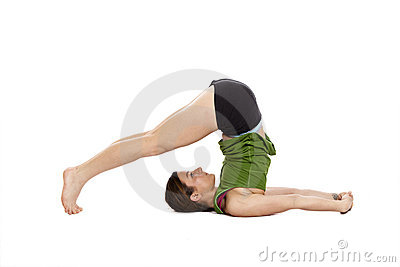 Woman in plow position