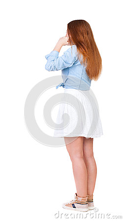 Free Woman Plugs Ears With His Fingers, Not Wanting To Listen To. Royalty Free Stock Photo - 45045885