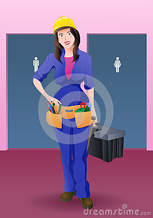 Free Woman Plumber Royalty Free Stock Images - 52279619