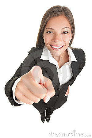 Free Woman Pointing At Camera Stock Images - 13779244