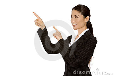 Woman Pointing With Fingers Stock Image - Image: 20284041