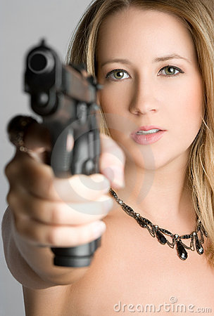 Woman Pointing Gun Stock Photos Image 11583873