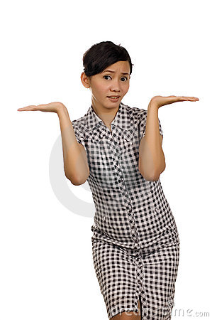 Woman Pointing Something