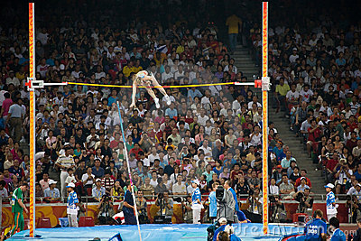 Woman Pole Vaulter Editorial Photo