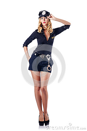 Woman police  concept