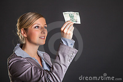 Woman with polish zloty