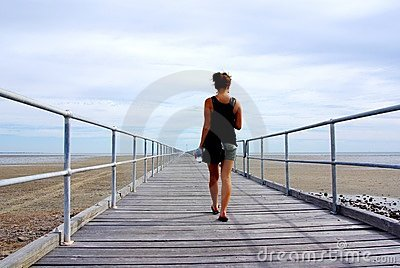 Woman on Port Germein Jetty