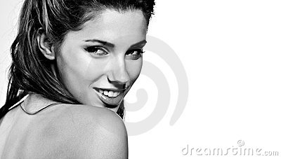 Woman Portrait, Bw Stock Photo - Image: 21276970
