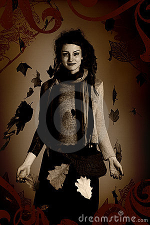 Woman portrait, grunge style