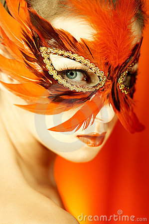 Free Woman Portrait In Mask Royalty Free Stock Photography - 1480257