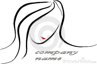 Woman portrait logo
