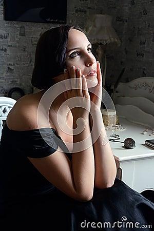 Woman portrait in retro style
